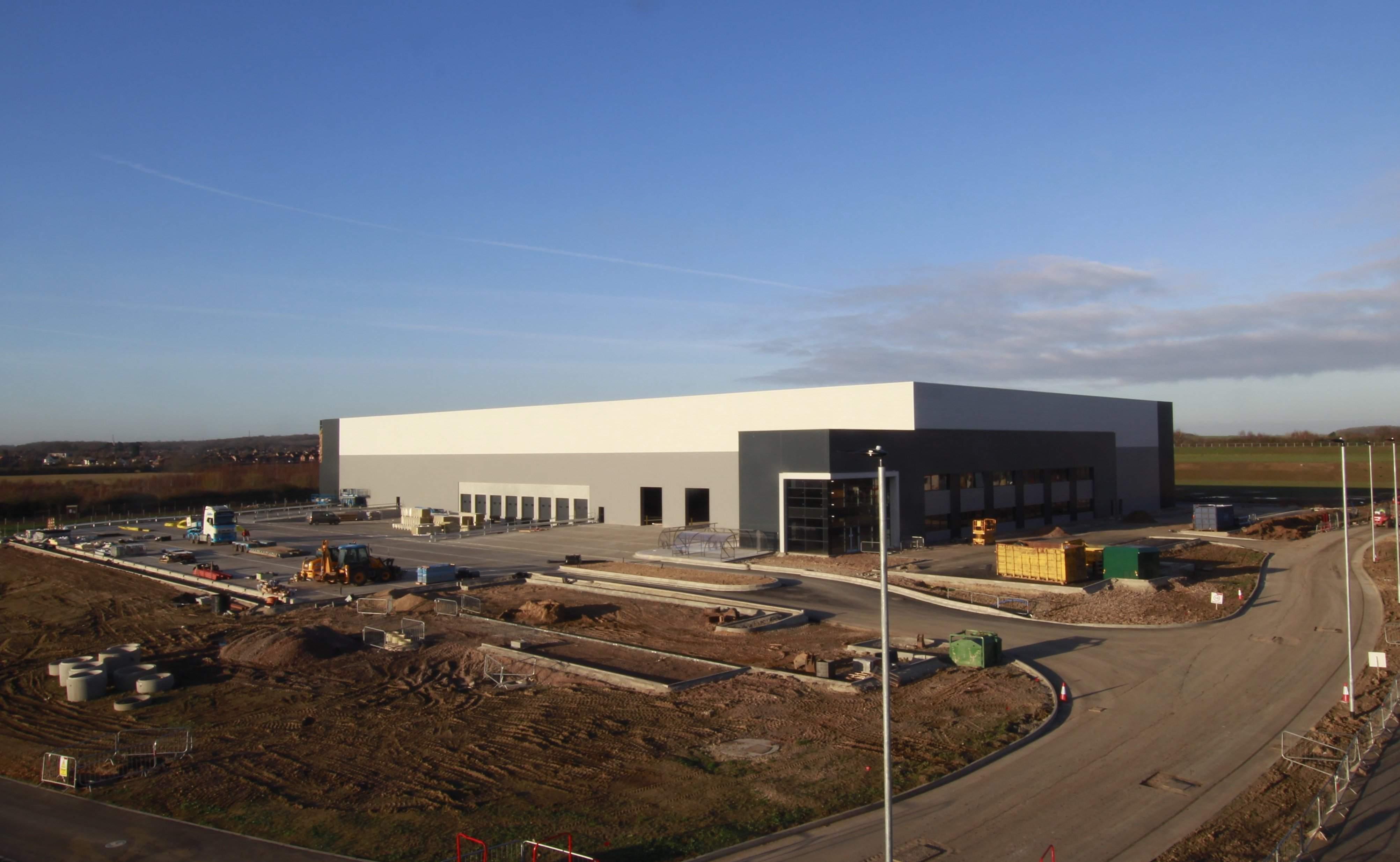 Unit 3 Bedford Link webcam image January 2019 under construction